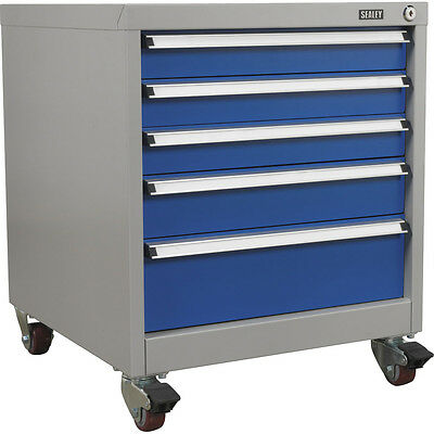 Sealey 5 Drawer Industrial Rolling Large Drawer Tool Cabinet