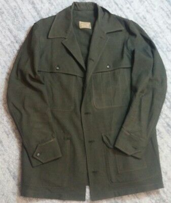 VTG NUDELMAN BROS. PORTLAND / SEATTLE FOREST SERVICE JACKET - MENS GREEN Size M