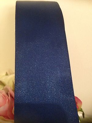 NAVY BLUE SATIN RIBBON 50 Mm x 3 metres wedding FLAT PACK FREE POST
