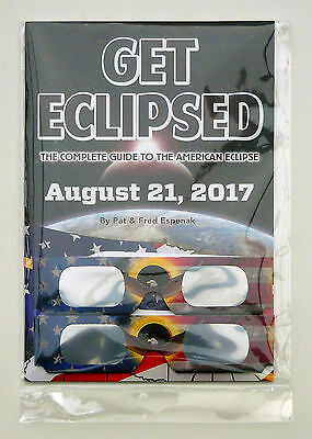 Get Eclipsed Solar Eclipse Guide Book 21 Aug 2017 USA +2 Glasses ISO CE Approved