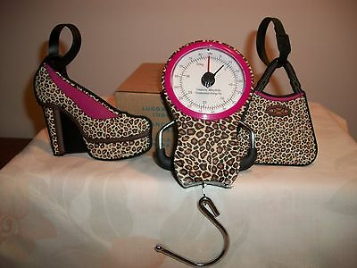 Avon 2012 Luggage Scale And 2 Luggage Tags With Measuring Tape New Leopard Print