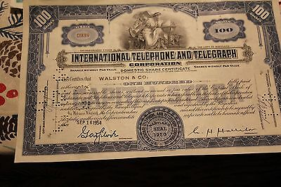 Lot of 10 Different Stock Certificates Colorful Engraved Vintage Scripophily #1