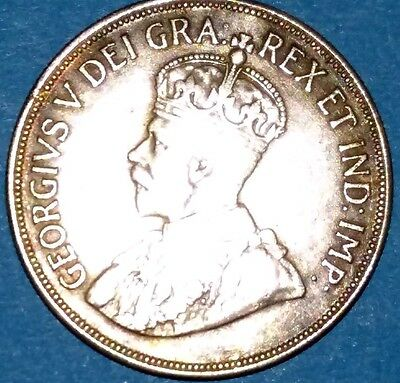 Cyprus silver coin: Fortyfive 45 Piastres, year of issue 1928, King George V.