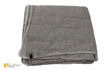 Exclusive Soft Warm Pure Cashmere Blanket Throw Wrap, Hand Made Nepal RRP $300
