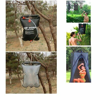 20L Camp Shower Bag Solar Heated Water Portable Camping Hiking Travel UK Stock