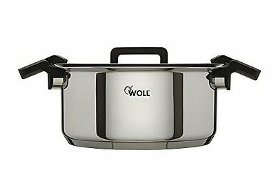 Woll 24Cm Stainless Steel Casserole Dish With Glass Lid 0.7Mm Body Thickness New