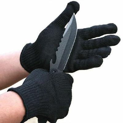 Stainless Steel Wire gloves Anti-Slash Resistance stab Cut Proof Safety 1 pair