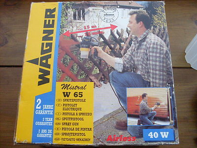 Wagner W65 Airless Spray Gun Boxed With Instructions & Accessories