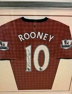 Framed Wayne Rooney Signed Manchester United 2012/2013 Shirt with Certificate