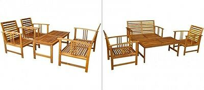 Wooden Outdoor Sofa Set Patio Deck Furniture Garden Bench Chairs Coffee Table