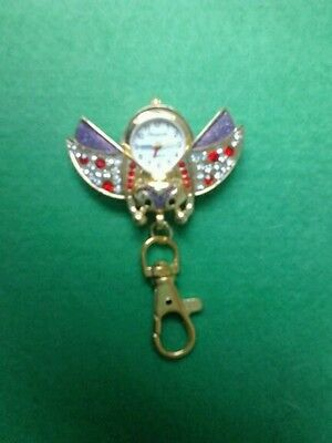 New Owl Open Wings WATCH keyring gift Christmas Xmas gift