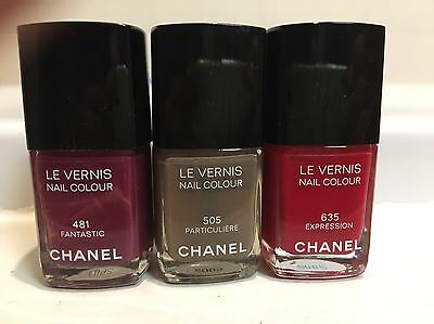 Lot de 3 Vernis Chanel ** Fantastic - Particulière - Expression**