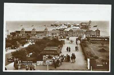 Clacton On Sea Essex The Pier 1946 Excel Real Photo Postcard
