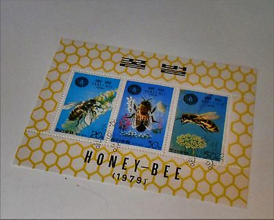Set Of 3  Stamps Of Honey-Bees 1979.from Korea.