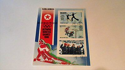Set Of 3 1980 Olympc Games Stamps. From Korea.