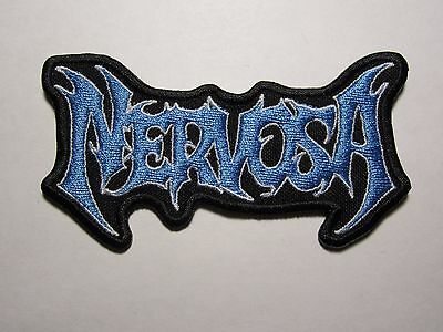 NERVOSA logo embroidered NEW patch thrash metal