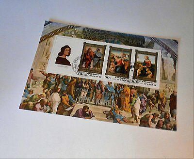 SETOF 500th BIRTIHDAY OF RAPHAEL STAMPS FROM KOREA. 1983.
