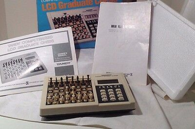 Tandy Electronic Graduate Chess Lcd Computer Game 60-2168 - Complete - Works