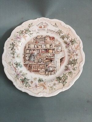 "Brambly Hedge 8"" Plate The Store Stump"