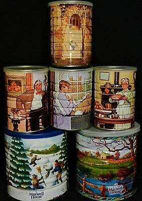 Vintage Maxwell House Coffee Can Collection