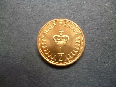 1984 Uncirculated Half Penny Piece. 1984 1/2P Only Minted For Royal Mint Sets.