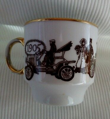 white and brown vintage car 1905 to 1909 cup