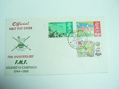 Fiji First Day Cover 25thann F.M.F. Solomans Campaign