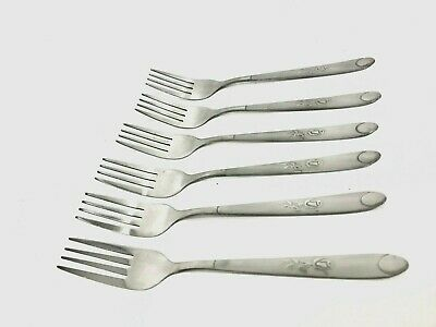 6 x Stainless Steel Floral Printed Spoons Cutlery Spare Dinner Table Spoons