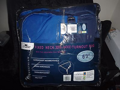 Fixed Neck 200g/600D Turnout Rug 6`3""
