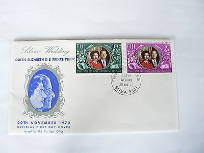 Fiji First Day Cover Silver Wedding