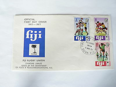 Fiji First Day Cover  Rugby Union Diamond Jubilee