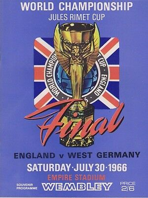1966 WORLD CUP FINAL ENGLAND v WEST GERMANY REPRINT PROGRAMME