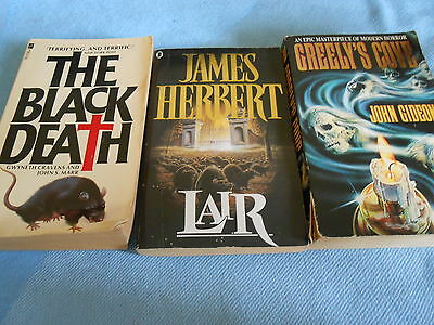 Collection of 3 Vintage PULP HORROR Paperbacks