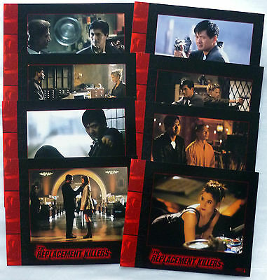 THE REPLACEMENT KILLERS Chow Yun-Fat LOBBY CARDS SET Mira Sorvino
