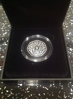 2011 Silver Proof Coin WWF 50th Anniversary UK Fifty Pence Commemorative 50p