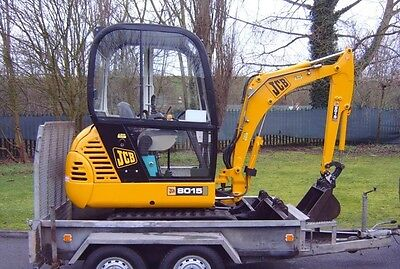 JCB 8015 1,5T mini digger with trailer 2,6T