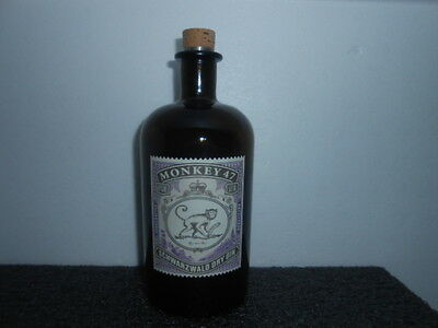 Empty Gin Bottle '' Monkey 47 '' / 5***** Conditions - See Photos