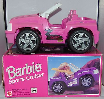 "BARBIE Pink 12"" SPORTS CRUISER 4x4 JEEP Mattel 1996 Car Toy (Used with Box)"