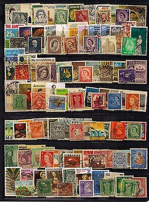 Commonwealth- Qeii Selection Of 110 Fine Used Stamps.very Good Sorting Lot.