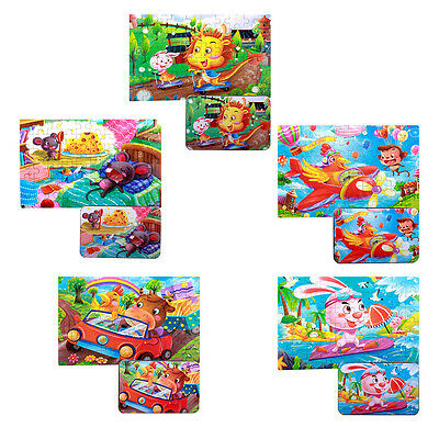 60 Pieces Of Wooden Jigsaw Puzzle Children's Early Childhood Educational Toys uk