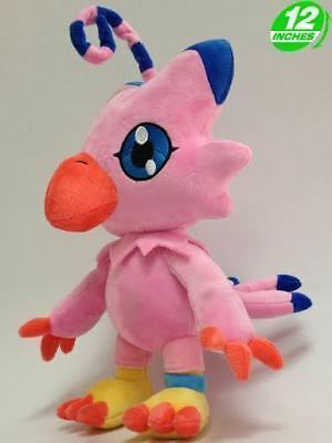 "FAST SHIPPING Piyomon Biyomon 12"" 30cm Digimon Adventure Soft Plush Toy Doll"