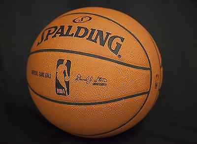 Spalding Basketball NBA Leather 6 Panel Ball Official Size/Weight David Stern