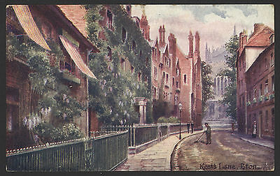 Berkshire. Windsor, Eton. Keat's Lane, Eton. 1904 Posted Davidson Bros Postcard