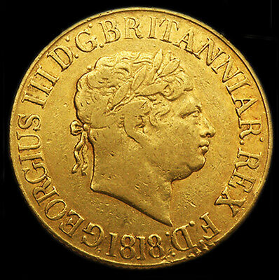 Very Rare King George The Iii 1818 Gold Sovereign...