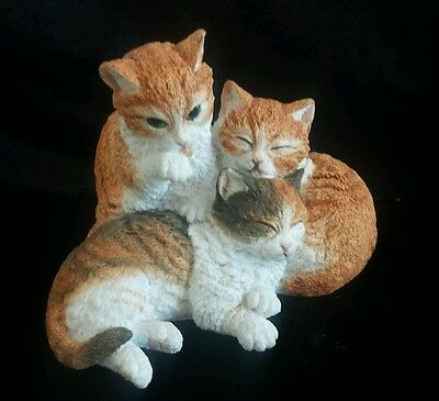 Cats - Figurine Ornament - 3 Ginger Tabbies - Country Artist