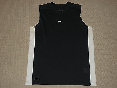 Mens Nike Dri-Fit Sleeveless Tank Top L Large Black Athletic Fitness Workout