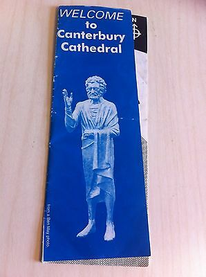 Vintage Welcome To Canterbury Cathedral England UK Pamphlet Brochure Travel old