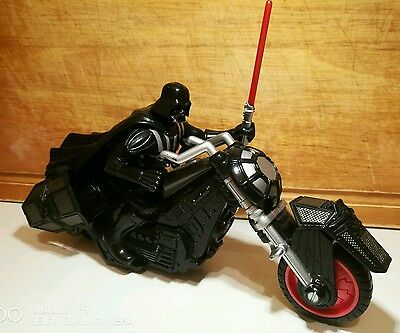 Hasbro 2005 star wars darth vader rev & go action bike.Rare