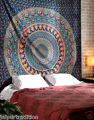 Indian Mandala Tapestry Hippie Wall Hanging Bohemian Twin Bedspread Throw Decor