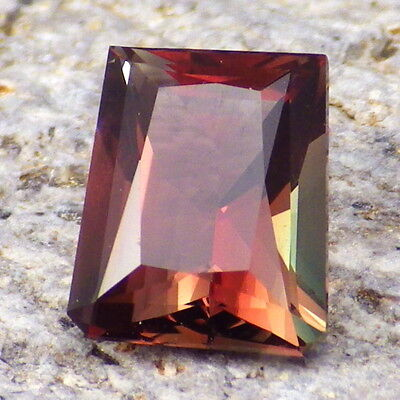 ROSE RED-GREEN OREGON SUNSTONE 1.92Ct FLAWLESS-BEAUTIFUL RARE COLOR-FOR JEWELRY